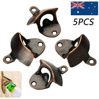 5 Pcs Wall Mounted Beer Bottle Opener Wine Beer Coke Sprite