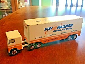 Vintage Fry Wagner Moving & Storage Moving Toy Truck Tractor Trailer Ralstoy