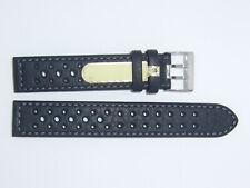 DI-Modell Waterproof perforated 18 mm BLACK Watch Band Strap RALLYE WAPRO