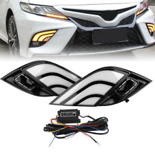 LED DRL Daytime Running Lamp w/ Turn Signal Light For Toyota Camry 2018 SE XSE