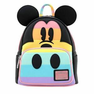 Loungefly x Disney Mickey Mouse Pastel Rainbow Mini Backpack