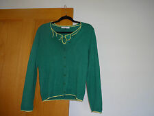 Ladies, green/yellow John Lewis set of cardigan and top size S (!0)