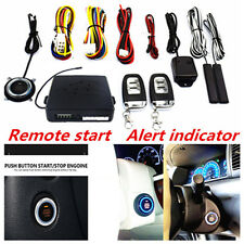 New Auto SUV Alarm System Keyless Entry Engine Start Push Button Remote Starter