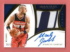 MARCIN GORTAT 2014-15 IMMACULATE AUTOGRAPH LETTER PATCH # /25 WASHINGTON WIZARDS
