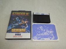 Strider II Master System Spiel komplett mit OVP und Anleitung