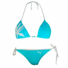 Puma Womens Triangle Bikini Reversible Top Graphic Swimwear 548374 02