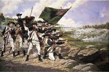 Delaware Reg Battle of Long Island American War of Independce 12x8 Inch Print
