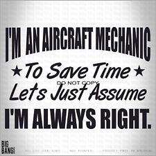 Aircraft Mechanic Ninja Vinyl Decal Sticker Funny Car Truck Window Trades Humor