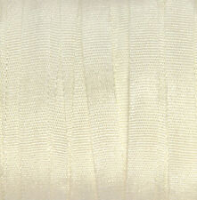 Ivory Silk Ribbon 100% Pure 4mm Embroidery off-white 3 meters