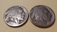 1913 Variety one (Raised Ground Reverse) & 1916 BUFFALO NICKELS
