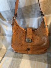 AUTHENTIC DOONEY & BOURKE HANDBAG OSTRICH EMBOSSED LEATHER HOBO BSH