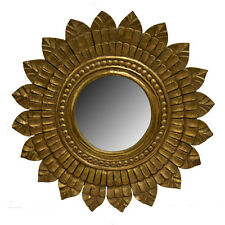 """Wall Mirror Wooden Frame Gold 23.5""""-Decorative Wall Decor -Wall Mirror -Accent"""