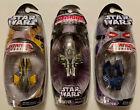 Lot Of 3 Star Wars 2005 Titanium SeriesDdie Cast Jedi Star Fighters NEW For Sale