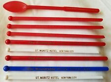 Lot 9 Plastic Swizzle Sticks Drink Stirrers New York City St.Moritz Roundtable +