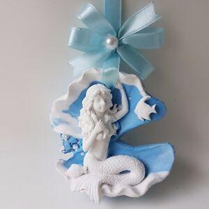 Aroma Stone Wall Plaque, door decor, home decor - Handmade - Mermaid Mira
