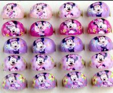 10 Anillos de Childs Mickey & Minnie Disney. Bolsa Fiesta Navidad Stocking Relleno.