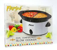 Parini Dual Compartment Slow Cooker 2 - Two 16 oz Compartments - New