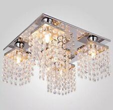 Elegant Crystal Chandelier Ceiling Lamp Pendant 5 Lights Flush Mount Fixture