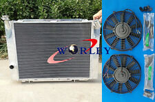 FOR HOLDEN COMMODORE VB VC VH VK V8 1979-1986 MT Aluminum Radiator + 2* FANS