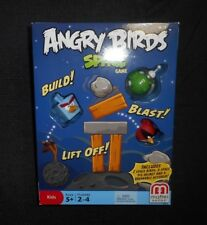 NEW SEALED ANGRY BIRDS SPACE MATTEL BLOCK / CARD GAME 100% COMPLETE IN BOX TOY