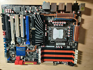 Intel LGA1366 Xeon X58 Motherboard Asus P6T Deluxe V2 DDR3-2000, mit I/O Blende