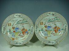 superb cinese porcelain gilded rose medallion plates