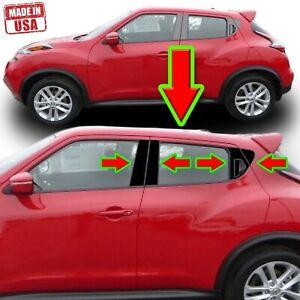 Black Pillar Trim for Nissan Juke 11-19 10pc Set Door Cover Piano Post
