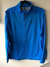 Mens Blue Nike Golf Storm Fit Zip Jacket Uk Size Medium Rrp £160