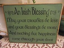unbranded wooden irish home décor plaques & signs | ebay
