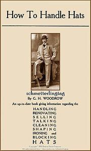 1905 Millinery Book Edwardian Era Mans Hat Making Make Mens Hats Milliner Guide