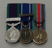 Court Mounted Miniature Medals, GSM Northern Ireland, IFOR, UN Bosnia, Mini