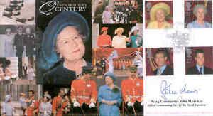 CC73b Queen Mother Full set FDC signed OC No 32 Royal Squadron RAF