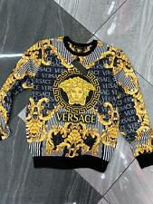 Brand New With Tags Men's VERSACE SWEATSHIRT Slim Fit Size M to 3XL