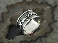 Stacheldraht Ringe Silberringe Gothic Feingehalt massiv Silber 925 barbed wire