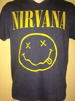 NIRVANA SMILEY FACE 2010 OFFICIAL SMALL T SHIRT PUNK ROCK  KURT COBAIN