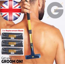 Groomarang Back & Body Hair Removal Shaver Razor Big 3x Blade replacement DIY