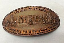 1934 Chicago Illinois Worlds Fair Elongated Penny - The Hall Of Science
