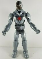 "DC Batman Unlimited Cyborg 11.5"" Tall Action Figure Toy 2015 Mattel"