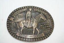 Will Rogers Centennial Western Cowboy Award Brass Belt Buckle 1879-1979