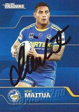 ✺Signed✺ 2013 PARRAMATTA EELS NRL Card RENI MAITUA