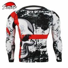 Boxing Sports Shirts Skull Print Sweatshirts Muay Thai Sport Tops Quick Dry Tops