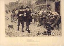 «The 29th of May» Grabado por James Dorin sobre pintura de Charles W. Bartlett