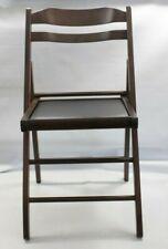 Linon Home Decor Folding chairs 4 wooden folding chairs black vinyl dark stain