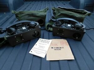 Pair NOS?- US Army Field Telephone Set TA-312/PT With CASES & INSTRUCTIONS