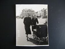 Orig 1930's 40's Photograph women pushing Carriage built pram on Deal Seafront