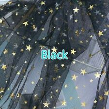 Mesh Fabric See Through Tulle Voile Shiny Star Sheer Net Dress Background Decor