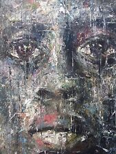Shai-Yossef-large-oil-painting-wall-art-special-portrait african black man