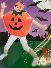 Childs Pumpkin Kids Halloween Fancy Dress Outfit Costume Age Up To 10 Years