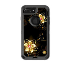 Skin Decal for Otterbox Defender iPhone 7 PLUS Case / glowing flowers abstract