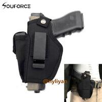 Hunting Pistol Waist Belt Cover Holster Pouch Holder Bag Sports Nylon Handgun